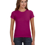Ladies' Ringspun 1x1 Baby Rib Scoop T-Shirt