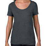 Ladies' Ringspun Sheer Scoop T-Shirt
