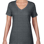 Ladies' Ringspun Sheer V-Neck T-Shirt