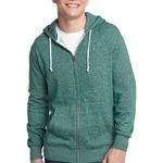 Young Mens Marled Fleece Full Zip Hoodie