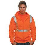Hi-Visibility Full Zip Hooded Sweatshirt