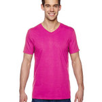 4.7 oz., 100% Sofspun™ Cotton Jersey V-Neck T-Shirt