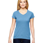 Vapor® Ladies' Cotton Short-Sleeve V-Neck T-Shirt