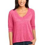 Ladies Microburn ® V Neck Raglan Tee