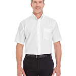 Men's Crown Woven Collection™ Solid Broadcloth Short-Sleeve Shirt