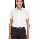 Ladies' Crown Woven Collection™ Solid Broadcloth Short-Sleeve Shirt