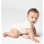 Infant Organic Baby Rib Short-Sleeve One-Piece