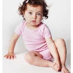 Infant Baby Rib Short-Sleeve One-Piece