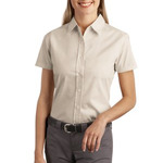 Ladies Short Sleeve Easy Care, Soil Resistant Shirt