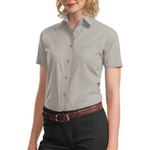 Ladies Short Sleeve Value Poplin Shirt