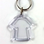Clear T Shirt Keychain