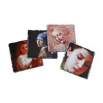 Photo Slate Tile Coaster Set