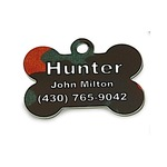 "1.5"" DOG BONE PET TAG"