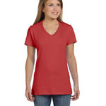 Ladies' 4.5 oz., 100% Ringspun Cotton nano-T® V-Neck T-Shirt
