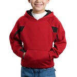 Youth Color Spliced Pullover Hooded Sweatshirt